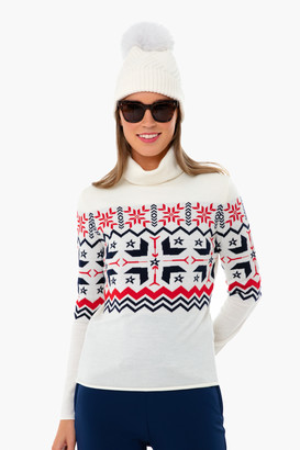 Perfect Moment Snow White Nordic Turtleneck Sweater