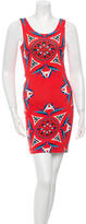 Karina Grimaldi Printed Cutout Mini Dress w/ Tags