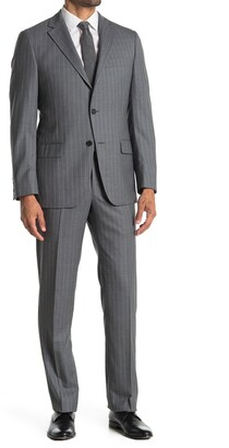 Hickey Freeman Regular Fit Pinstripe Suit Set