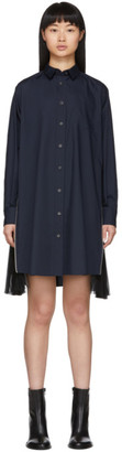 Sacai Navy Poplin Shirt Dress