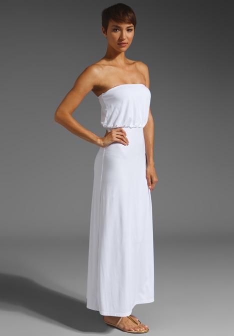 Susana Monaco Light Supplex Blouson Tube Dress