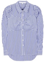 Veronica Beard Candice striped cotton shirt
