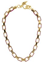 Diane von Furstenberg Gabby Beet Rectangle Link Necklace w/ Tags