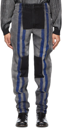 Eckhaus Latta Grey Block Wash El Jeans