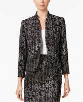 Nine West Kiss-Front Jacquard Blazer