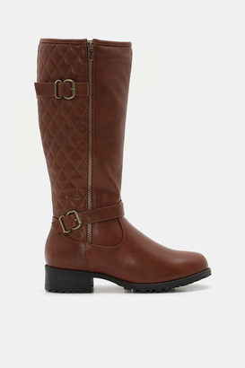 Ardene Quilted Knee High Boots - Shoes |