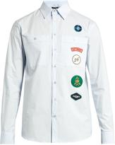 Raf Simons Scout badge-appliqué cotton-poplin shirt