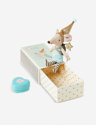The Conran Shop Maileg cotton Tooth Fairy Mouse in a box 7cm