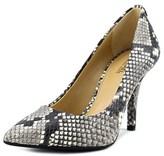 MICHAEL Michael Kors Mk-flex High Pump Women Pointed Toe Leather Gray Heels.
