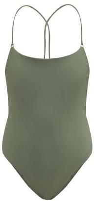 JADE SWIM Tether Crossover-back Swimsuit - Khaki