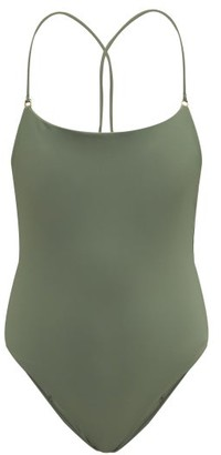 JADE SWIM Tether Crossover Back Swimsuit - Womens - Khaki