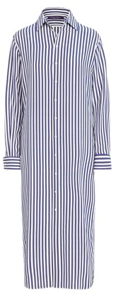 Ralph Lauren Collection Ralph Lauren Graison Striped Silk Day Dress