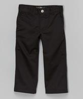Micros Black Straight-Leg Pants - Toddler & Boys