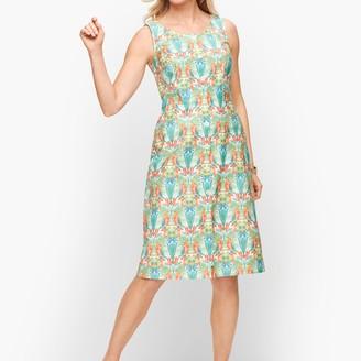 Talbots Tropical Print Shift Dress