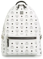 MCM 'Medium Stark' Side Stud Backpack - White
