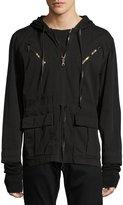 Hudson Mason Pullover Hooded Jacket, Black