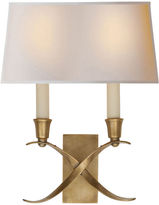 Visual Comfort & Co. Small Cross Bouillotte Sconce, Brass