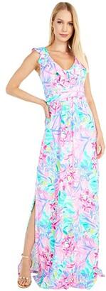 Lilly Pulitzer Mirella Maxi Dress (Multi It Was All A Dream) Women's Dress