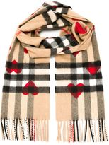 Burberry heart print scarf - women - Cashmere - One Size