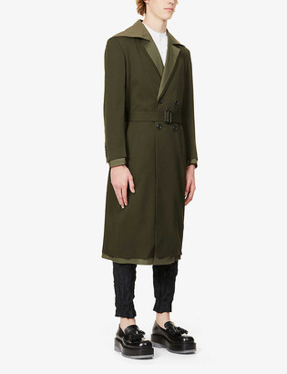 J.W.Anderson Double-breasted notch-lapels wool coat