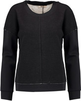 J Brand Montana satin scuba-paneled jersey-knit top