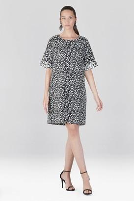 Natori Stencil Vine Jacquard T-Shirt Dress