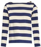 MiH Jeans Button Sleeve breton cotton shirt