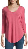 A.N.A a.n.a 3/4 Sleeve Scoop Neck T-Shirt-Womens Talls
