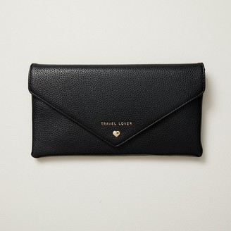 Love & Lore LOVE AND LORE ENVELOPE TRAVEL WALLET BLACK