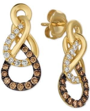 LeVian Le Vian Chocolatier Diamond Drop Earrings (3/8 ct. t.w.) in 14k Gold