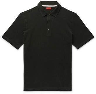 Isaia Slim-Fit Cotton-Pique Polo Shirt
