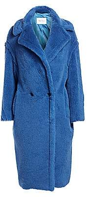 Max Mara Women's Bright Alpaca Fur, Virgin Wool & Silk Teddy Coat