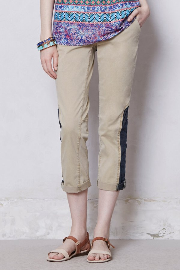 Anthropologie Pilcro Colorblocked Chinos