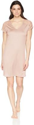 Hanro Women's Fleur Short Sleeve Gown