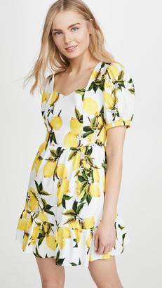 ENGLISH FACTORY Lemon Print Mini Dress