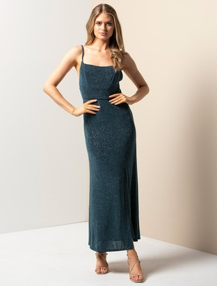 Forever New Tatiana Jersey Sparkle Maxi Dress - Sea Moss - 10