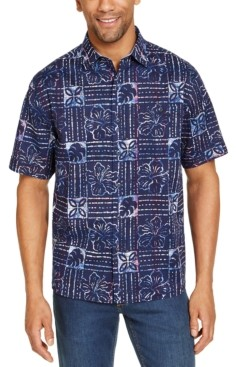 Tommy Bahama Men's Sand Dollar Classic-Fit Stretch Batik-Print Camp Shirt