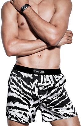 Tom Ford Men's Zebra Silk Boxers