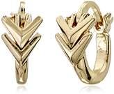 Sam Edelman Double V Huggie Hoop Earrings