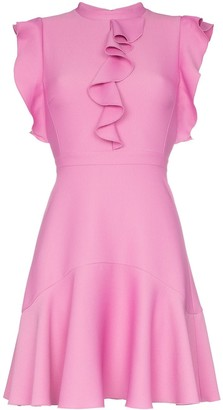 Giambattista Valli Ruffle Detail Flared Mini Dress