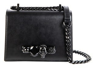 Alexander McQueen The Small Jewelled Leather Satchel