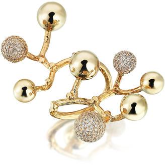 Evren Kayar Big Constellation 18K Yellow Gold Diamond Ring