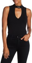 Lily White Solid Cutout Detail Bodysuit