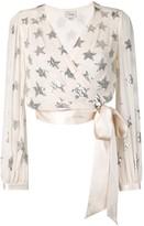 Temperley London Starlet sequin wrap blouse