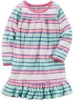 Carter's Girls 4-14 Patterned Ruffle Hem Microfleece Dorm Nightgown