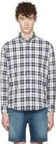 Ami Alexandre Mattiussi Navy Tartan Oxford Shirt
