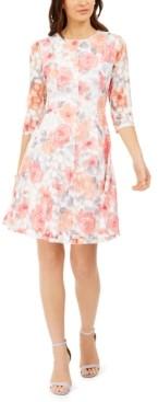 Jessica Howard Petite Lace Floral Dress