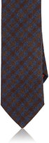 Luciano Barbera Men's Checked Woven Wool-Cashmere Necktie-BLUE