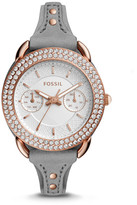 Fossil Tailor Multifunction Leather and Stainless Steel Box Set