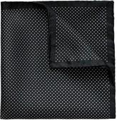 Eton Black Polka Dots Silk Pocket Square